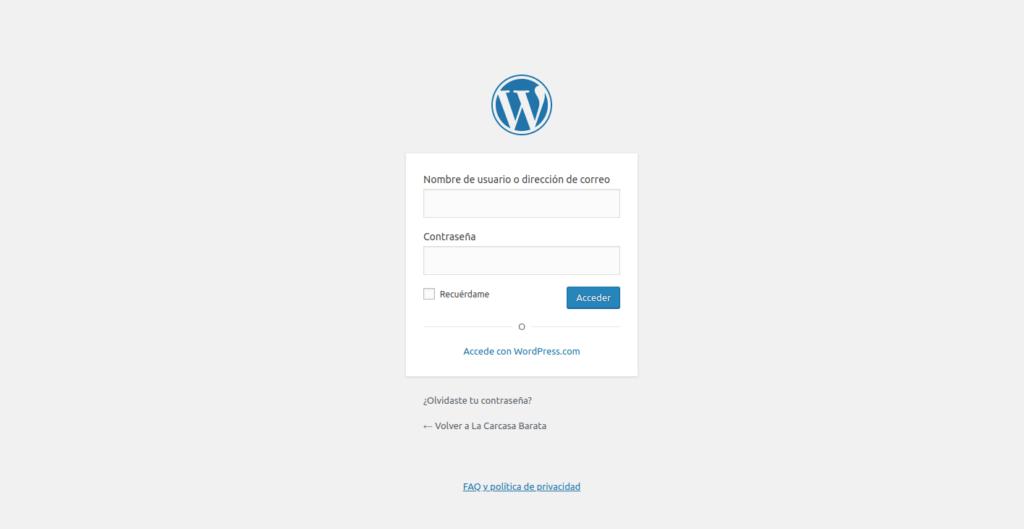 WordPress admin IP address